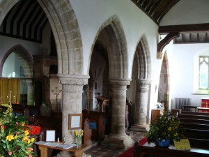 All Saints Staunton - interior